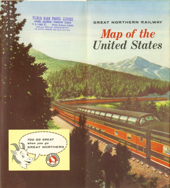 1958 Map of the United States |