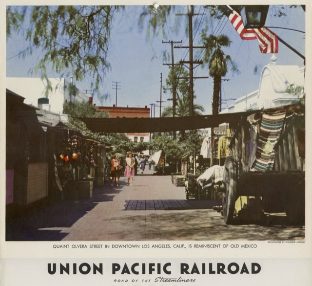 """1949 Union Pacific Railroad /""""City of Los Angeles/"""" Streamliner Advertising Poster"""