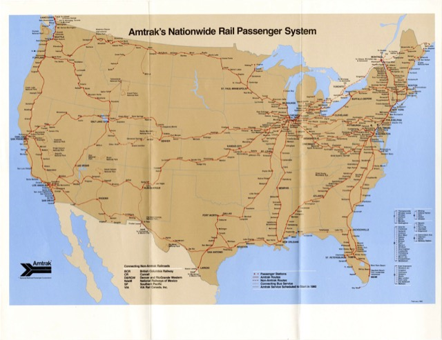 Amtrak Route Map | on